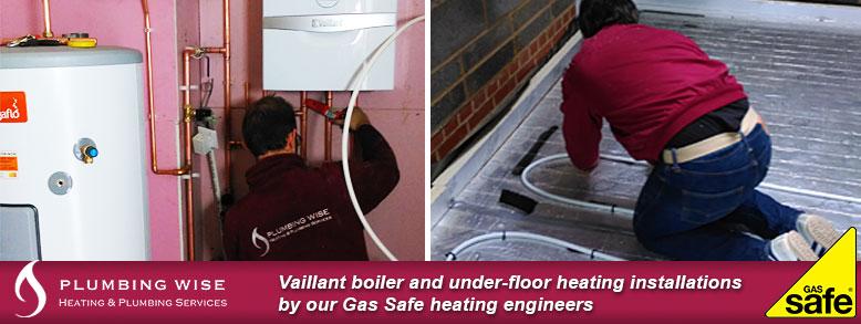 Boiler and underfloor heating installation
