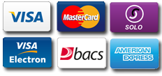 Payment by credit or debit card or BACS