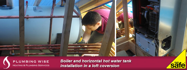 Boiler and hot water cylinder installation in Enfield